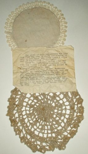 Antique 19th Century Americana Hand Woven Doilies Sampler With Provenance