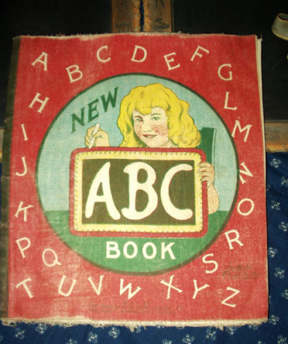 Antique Salfield Early 1900s ABC Linen Children Storybook