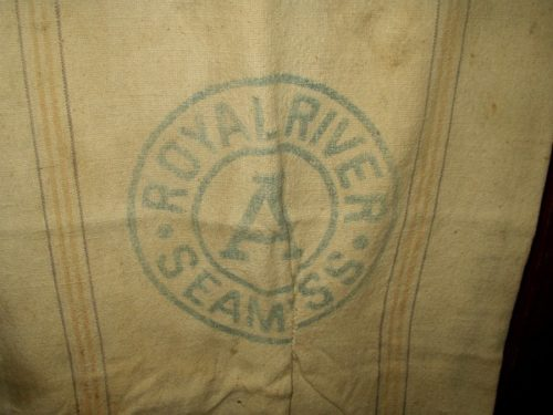 1880 1900 Grain Bag Seamless American Royal River Farmhouse Primitive