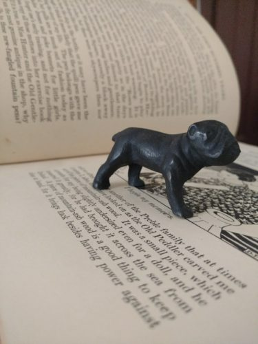 1920s 1930s Cast Iron Standing Bulldog Paper Weight