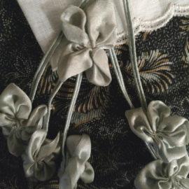 Antique Ribbon Rosette Cluster Streamers Vintage 1920s Baby Blue Embellishment