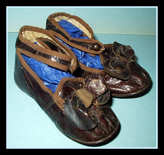 Antique Victorian Edwardian 1900 Children Ankle Strap Shoes