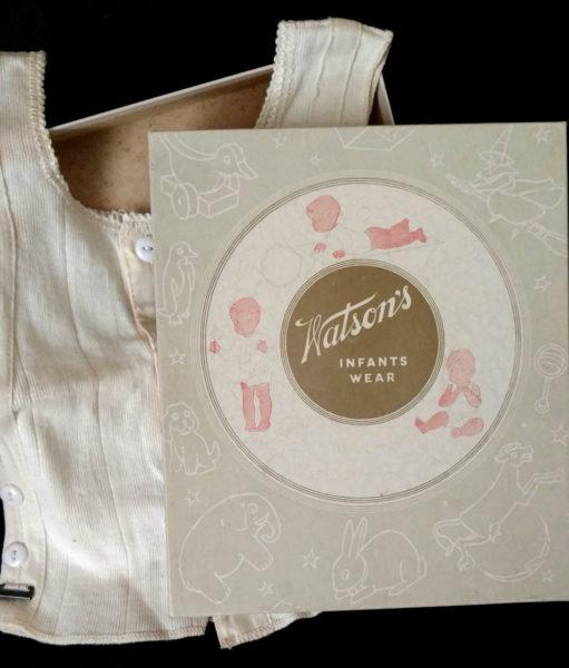Vintage 1930s Child Shirt Knit Underwear Watson Infant Wear Box