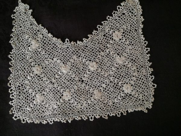 Vintage Irish Crochet Dress Front Collar 1915 - 1920s