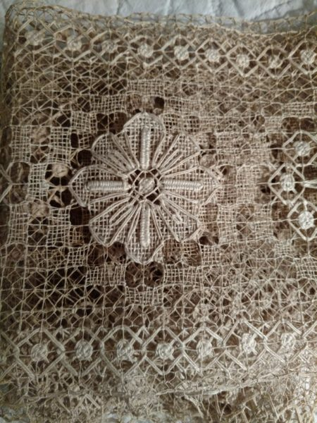 Old Darn Knotted Lace Antique Yardage 3 Yards Unused Embellishment Trim