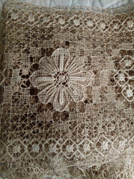 Old Darn Knotted Lace Antique Yardage 3 Yards Unused Embellishment Trim