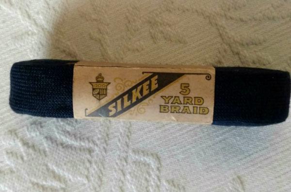 Victorian Edwardian Skirt Trim Braid 5 Yards Vintage Unused Navy Blue