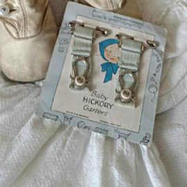 Hickory Baby Stocking Garters Vintage 1920s Graphic Advertising Card