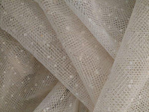 Vintage Tulle Dot Net Yardage Cotton Sew Doll Dressmaking Costume