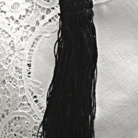 Victorian Navy Tassel Passamenterie Crochet Top Sewing Clothing Original Tag