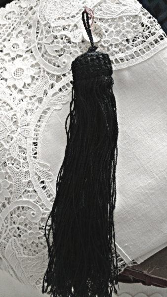 Victorian Navy Tassel Passamenterie Crochet Top Sewing Clothing Original Tag