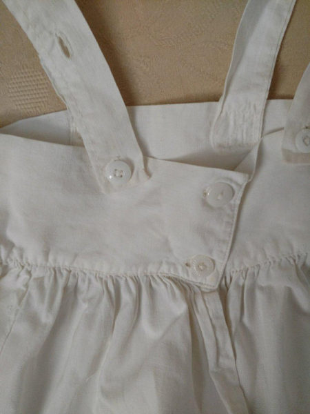 Antique Baby Doll Petticoat Tucks Lace Adjustable Straps