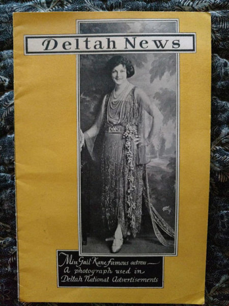 Deltah Pearl Jewelry News Pictorial 1920 Magazine Gail Kane Actress Cover