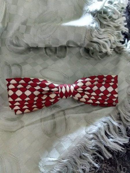 Vintage Men Bow Tie Vintage 1940s Ormond NYC Art Deco Silk