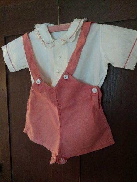Vintage 1930s Kids Short Pants Top Playsuit Girl Rompers
