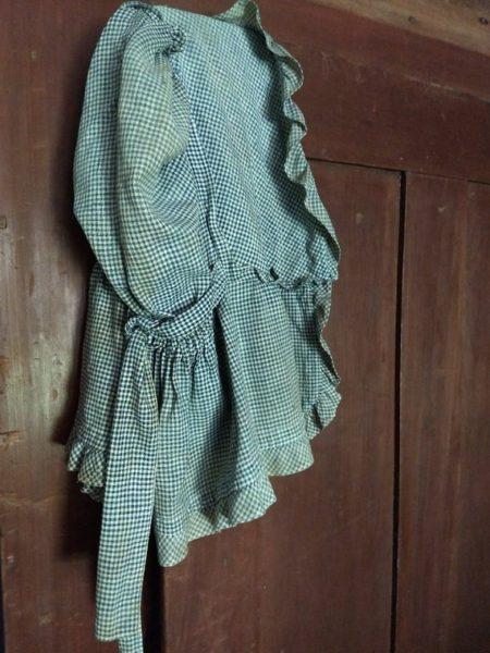Primitive Check Homespun Sunbonnet Farmhouse Country Blue White