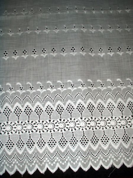 Antique Swiss Eyelet Victorian Edwardian Bolster Pillow Sham