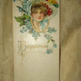 Vintage 1900 The Best Wishes Series Happiness Book Of Poem Verses
