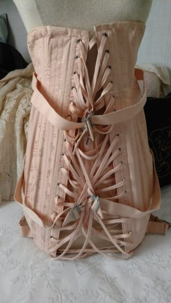 Corset Undergarment 1940s Camp Fan Lacing Support Original Box