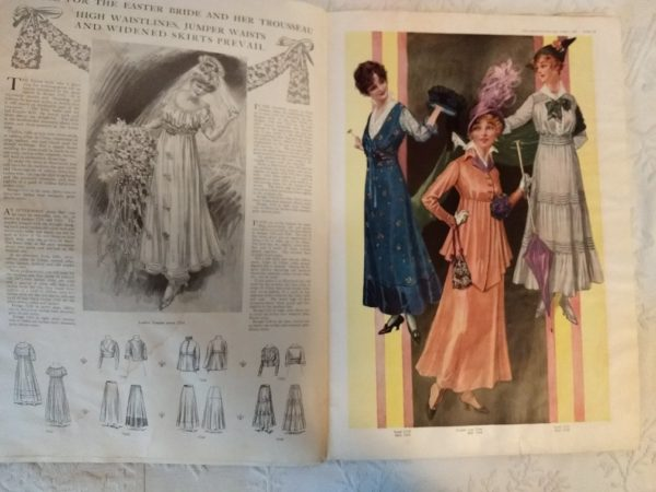 Delineator April 1915 Magazine Antique Fashion Advertising