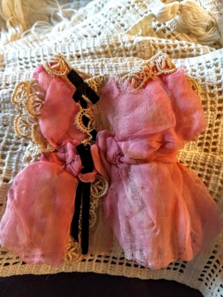 1920 Party Doll Dress Home Sewn Chiffon Lace Tulle Ribbon