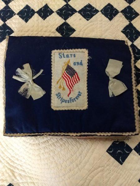 Souvenir Patriotic Flag Handkerchief Letter Pouch Holder Case WW1