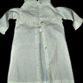 Antique Victorian 1890 Doll Dressing Gown Robe Sleepwear