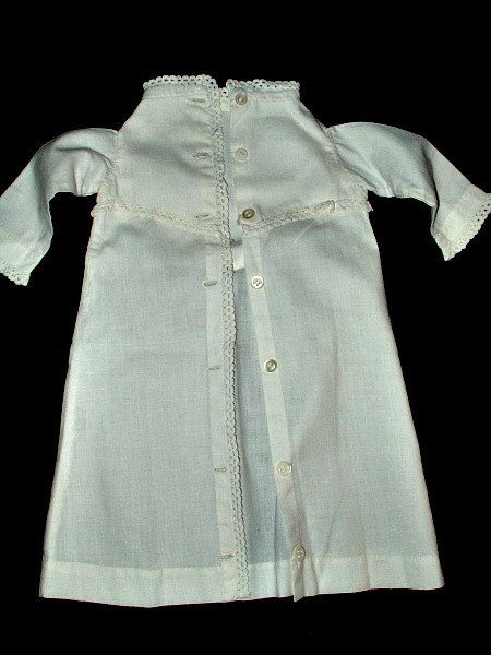 Antique Victorian 1890 Doll Dressing Gown Robe Sleepwear