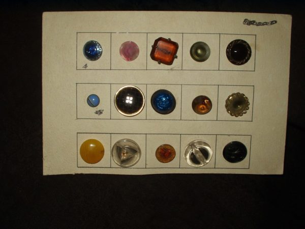 15 Assorted Vintage Collector Card Buttons Edwardian to 1940