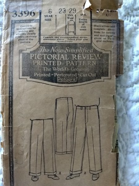 Pictorial Review Pattern Boy Trousers 3396 Vintage Sewing 1930s 6 Year Old
