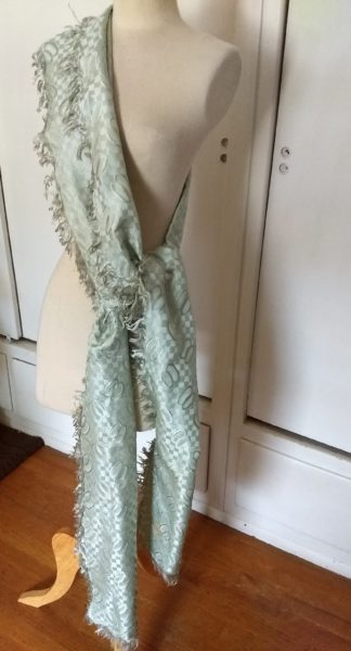 Edwardian Antique Silk Sash Collar Wrap Shawl Fringe