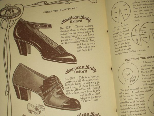 Vintage 1910 Hamilton Brown Shoe Household Catalog Book
