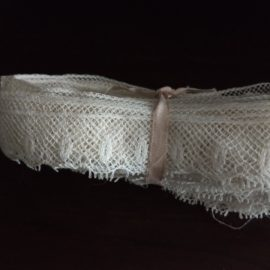 16 Yards Antique Lace Trim Edging White Cotton Sewing Crafts Dolls Dressmaking