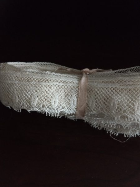 16 Yards Antique Lace Trim Edging White Cotton Sewing Crafts Dolls Dressmaking
