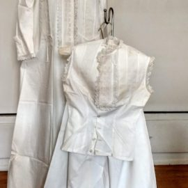 Victorian Dressing Gown Bloomers Camisole Wedding Trousseau Set