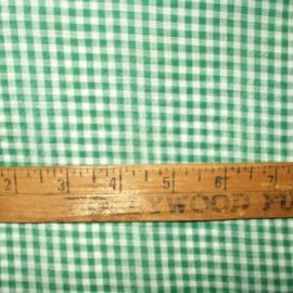 1920s 1930s Vintage Depression Green Check Cotton Gingham Fabric Yardage