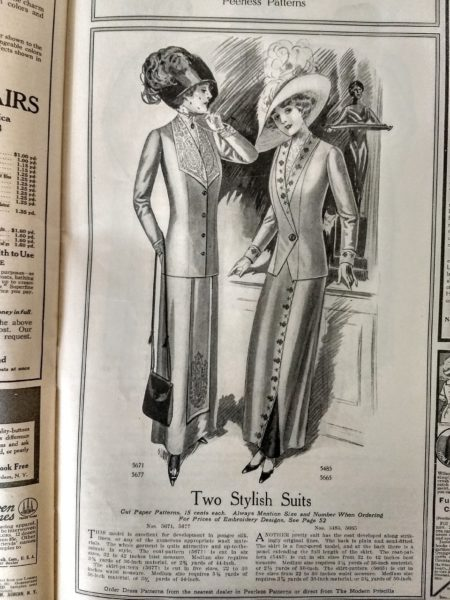 March 1912 Modern Priscilla Magazine Needle Work Fashion Ads