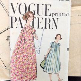 1950's Vogue 9492 Pattern Muu Muu Dress Gown Vintage Sewing 1959