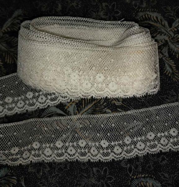 Antique Vintage Lace Edging Trim Yardage 2 Yards Sewing Embellishment