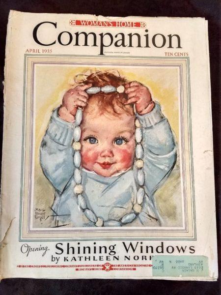 April 1935 Womans Home Companion Magazine Maude Tousey Fangel Cover 9 Fashion Pages