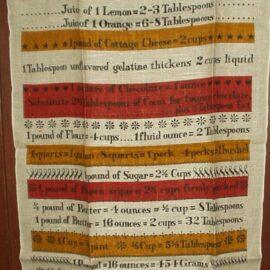 Unused Lois Long Vintage Linen Kitchen Towel Food Conversion Measure