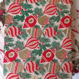 Vintage Christmas Paper Cardboard Gift Box