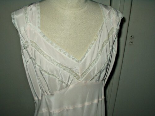 vintage rayon nightgown alberta lingerie