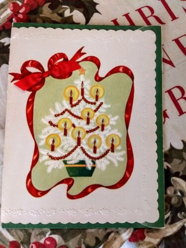 vintage sterling chicago christmas gift card hankie box sleeve