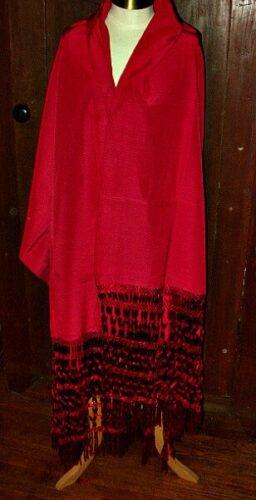 rayon silk fringe shawl