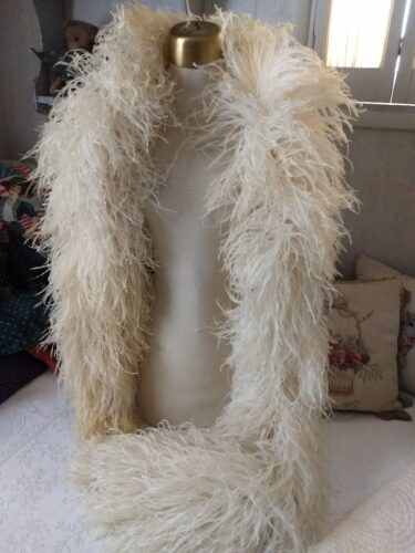 edwardian boa white ostrich shawl costume