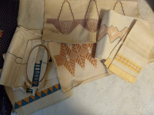 Vintage 1930's Swedish Weaving Embroidery Towels