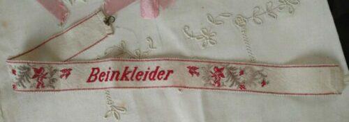 Woven Berlin Embroidery Stocking Garter 19th Century German Cupids Birds
