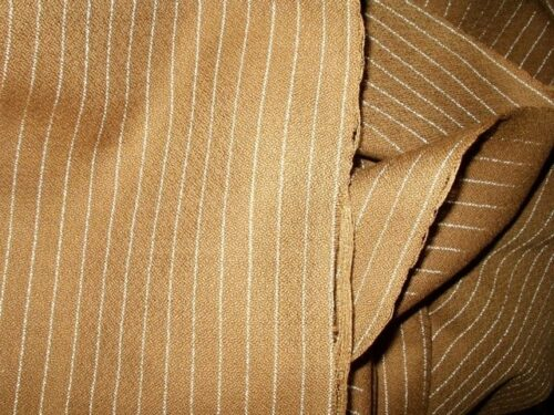 Antique Victorian to 1920s Flapper Pin Stripe Walking Suit Dress Fabric Yardage