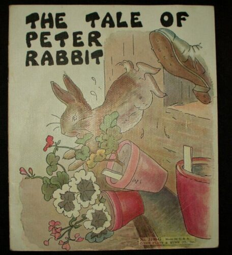 Vintage 1940's Platt Munk Peter Rabbit Children Storybook